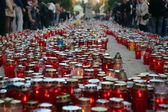 Zagreb cemetery Mirogoj on All Saints Day — Foto Stock