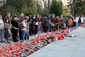 Zagreb cemetery Mirogoj on All Saints Day — Stock fotografie