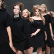 Fashion model wearing clothes designed by Ivana Popovic on the Zagreb Fashion Week show — Lizenzfreies Foto