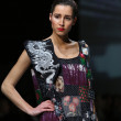 Fashion models wearing clothes designed by Ana Kujundzic on the Zagreb Fashion Week show — Stock Photo