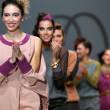 Fashion models wearing clothes designed by Iggy Popovic on the Zagreb Fashion Week show — Foto de Stock