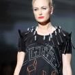 Fashion model wearing clothes designed by Ana Kujundzic on the Zagreb Fashion Week show — Lizenzfreies Foto