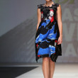 Fashion model wearing clothes designed by Ana Kujundzic on the Zagreb Fashion Week show — Foto de Stock