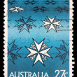 Stamp printed in Australia shows st john ambulance centenary — Stock Photo