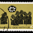 Stamp printed in AUSTRALIshows Adoration of Shepherds — Stock Photo #37547195