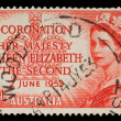 Stamp showing Portrait of Queen Elizabeth 2nd — стоковое фото #37547591