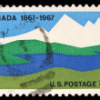Stamp printed in United States of America shows Canada, 1867-1967 — Stock Photo #37547625