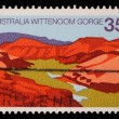 Stamp printed in AUSTRALIA shows the Wittenoom Gorge, Western Australia — Stock Photo #37547815