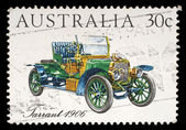 Stamp printed in Australia shows the Tarrant Car — Stock Photo