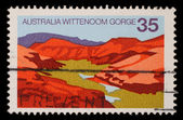 Stamp printed in AUSTRALIA shows the Wittenoom Gorge, Western Australia — Stock Photo