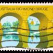 Stamp printed in Australia shows Australia Richmond Bridge — Stock Photo #37550489