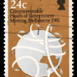 Stamp printed in Australia shows Commonwealth Heads of Government Meeting, Melbourne 1981 — Stock Photo #37550927