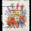"Stock Photo: Stamp printed in AUSTRALIshows Bunch of flowers with description ""Thinking of You"""