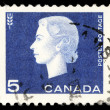 Stamp printed by Canada, shows Queen Elizabeth II, — Stock Photo