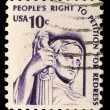 Stamp printed in USshows Contemplation of Justice — Stock Photo #37552923