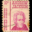 Stamp printed in the United States of America shows Andrew Jackson — Stock Photo #37553151