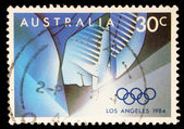 Stamp printed by Australia, shows 1884 Summer Olympics — Stock Photo