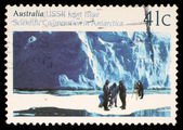 Stamp printed in the Australia shows Glaciology, Cooperation in Antarctic Research — Stock Photo