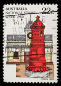 "Stamp printed in Australia from the ""National Stamp Week"" issue shows postbox — Stock Photo"