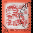 Stamp printed in Austria shows Enns — Stock Photo
