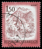 Stamp printed in Austria shows Bludenz — Stock Photo