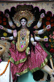 Goddess Durga on February 08, 2014. Goddess Durga is popular amongst Hindu Bengalis, and is worshipped with enthusiasm by her devoted followers — Stock Photo