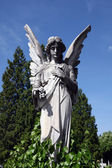 Angel at Mirogoj cemetery, Zagreb, Croatia — Stock Photo