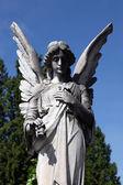 Angel at Mirogoj cemetery, Zagreb, Croatia — Stock Photo
