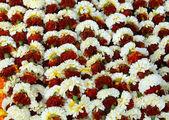 Targ kwiatowy, kalkuta, indie — Zdjęcie stockowe