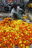Flower market, Kolkata, India — Stock Photo