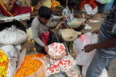 Flower market, Kolkata, India — Stockfoto