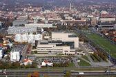 Biblioteca nacional e universidade de zagreb, croácia — Fotografia Stock