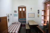 The former room of Mother Teresa at Mother House in Kolkata — 图库照片