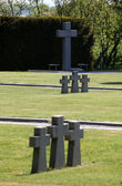 German Military Graves, Mirogoj graveyard in Zagreb — Stock Photo
