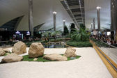 Recreation area in International airport on February in Dubai, UAE — Stock Photo