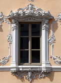Window, House of Falcon in Wurzburg, Germany — Stock Photo