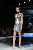 Fashion model wearing clothes designed by Martina Felja on the 'Fashion.hr' show in Zagreb, Croatia — Stock Photo