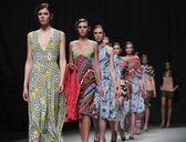 "Fashion model wears clothes made by Anamarija Asanovic on ""CRO A PORTER"" — Stock Photo"