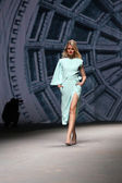 "Fashion model wears clothes made by Arileo on ""CRO A PORTER"" show — Foto Stock"