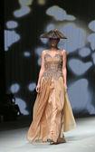 "Fashion model wears clothes made by Boris Pavlin on ""CRO A PORTER"" show — Zdjęcie stockowe"