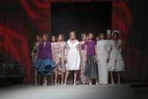 "Fashion model wears clothes made by Lokomotiva on ""CRO A PORTER"" show — Zdjęcie stockowe"