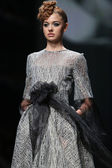 """Fashion model wears clothes made by Teo Peric on """"CRO A PORTER"""" show — Stock Photo"""