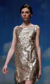 """Fashion model wears clothes made by Nebo on """"CRO A PORTER"""" show — Foto de Stock"""