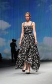 "Fashion model wears clothes made by Nebo on ""CRO A PORTER"" show — Zdjęcie stockowe"