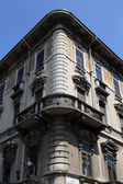 House on via Garibaldi street in Parma, Italy — Stock Photo