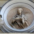 Saint Lucia, marble statue. St. Lucia Church. Parma. Italy — Stock Photo #48001973