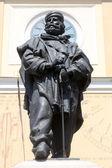 Giuseppe Garibaldi bronze statue. Parma, Italy — Stock Photo