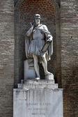 Antonio da Correggio. Garibaldi Square. Parma. Italy. — Stock Photo