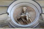 Saint Lucia, marble statue. St. Lucia Church. Parma. Italy — Stock Photo