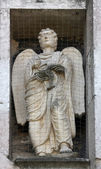 Angel, marble statue on the Baptistery, Parma, Italy — Stock Photo